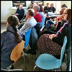 Some of the audience at Stroud Green and Harringay Library